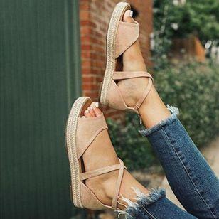 Women's Flats Linen Flat Heel Sandals_4
