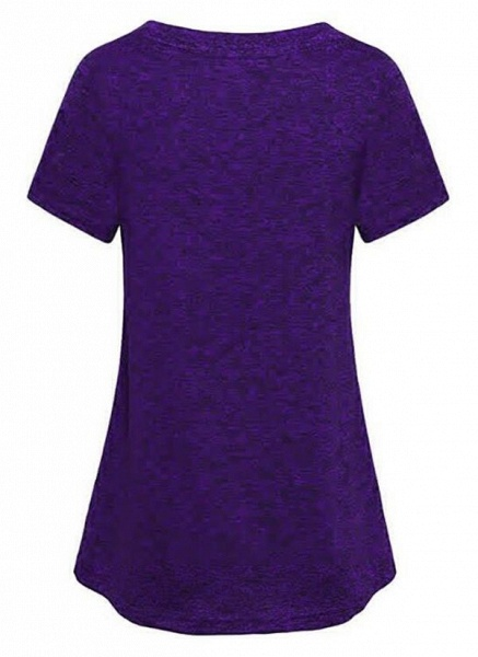 Women's Athletic Casual Sporty Polyester Yoga T-shirt Fitness & Yoga_2