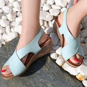 Women's Buckle Slingbacks Wedge Heel Sandals_8