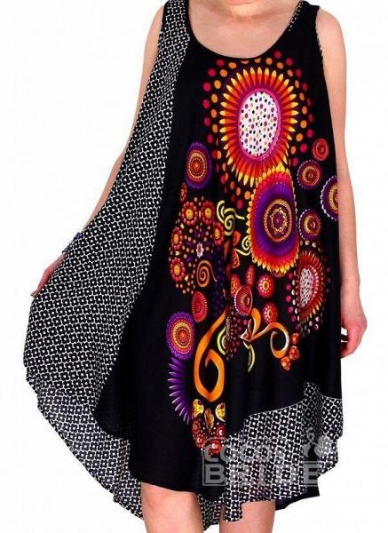 Plus Size Color Block Round Neckline Casual Knee-Length Shift Dress Plus Dress_2