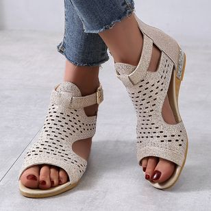 Women's Buckle Flats Flat Heel Sandals_1