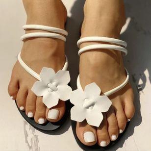 Women's Flower Flats Flat Heel Sandals_4