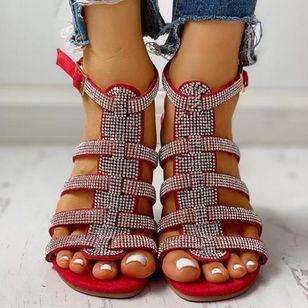 Women's Sequin Buckle Slingbacks Flat Heel Sandals_2
