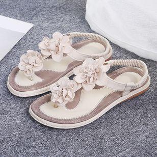 Women's Applique Flip-Flops Flat Heel Sandals_2