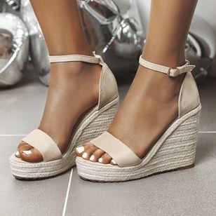 Women's Ankle Strap Modern Nubuck Wedge Heel Sandals_3