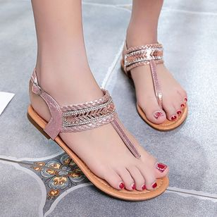 Women's Buckle Flats Slingbacks Flat Heel Sandals_4