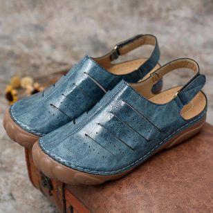 Women's Velcro Slingbacks Flat Heel Sandals_3