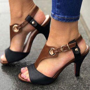 Women's Buckle Peep Toe Stiletto Heel Sandals_2