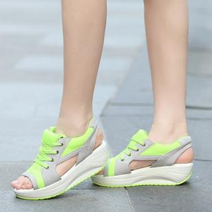 Women's Lace-up Wedge Heel Sandals_3