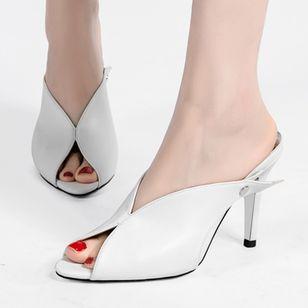 Women's Heels Leatherette Stiletto Heel Sandals_1