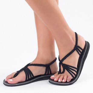 Women's Slingbacks Cloth Flat Heel Sandals Flats_2