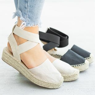 Women's Slingbacks Cloth Flat Heel Sandals Platforms_1