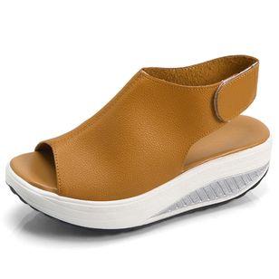 Women's Velcro Slingbacks Wedge Heel Sandals_1