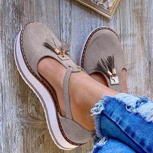 Women's Tassel Closed Toe Flat Heel Sandals_7