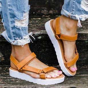 Women's Flats Cloth Flat Heel Sandals Platforms_2