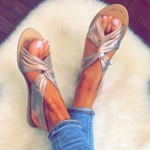 Women's Slingbacks Cloth Flat Heel Sandals Flats_4