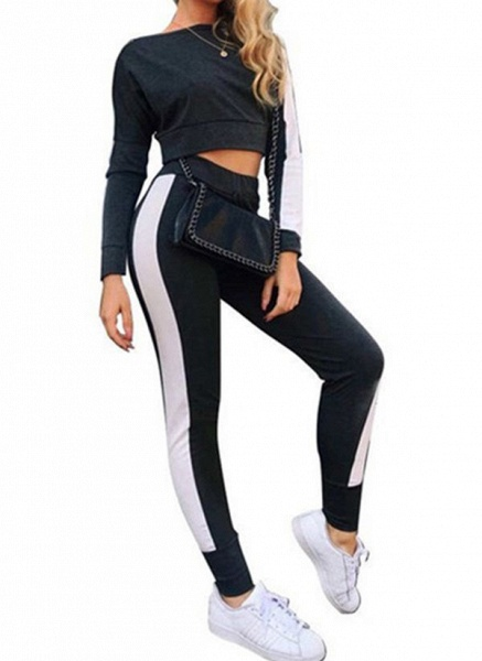 Women's Athletic Casual Cotton Blends Fitness Clothing Suit Fitness & Yoga_2