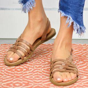 Women's Knit Round Toe Flat Heel Sandals_2