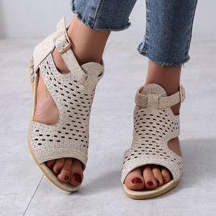 Women's Buckle Flats Flat Heel Sandals_6