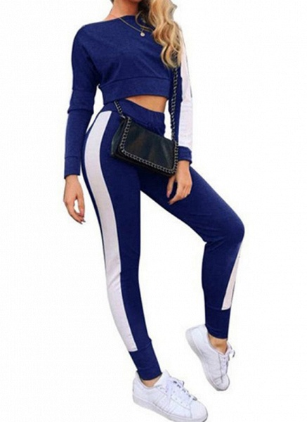 Women's Athletic Casual Cotton Blends Fitness Clothing Suit Fitness & Yoga_1