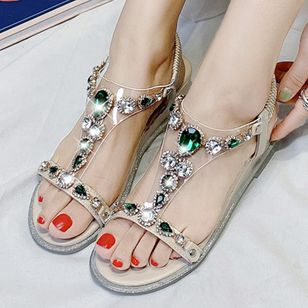 Women's Buckle Slingbacks Low Heel Sandals_3