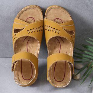 Women's Hollow-out Slingbacks Flat Heel Sandals_6