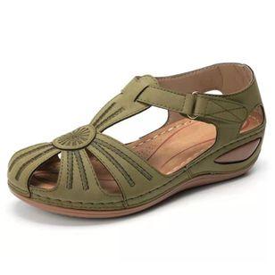 Women's Round Toe Wedge Heel Sandals_4
