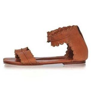 Women's Zipper Leatherette Low Heel Sandals_6