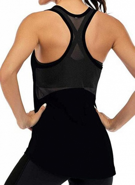 Women's Athletic Casual Sporty Polyester Yoga Vest Fitness & Yoga_3