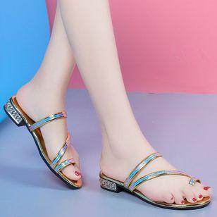 Women's Heels Sparkling Glitter Low Heel Sandals_6