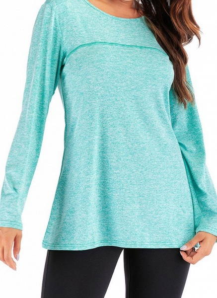 Women's Casual Polyester Yoga T-shirt Fitness & Yoga_5