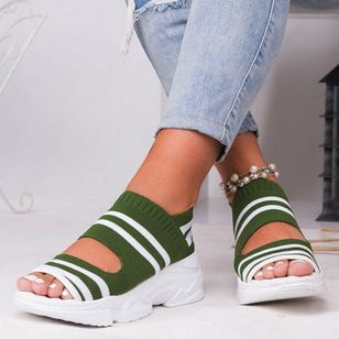 Women's Knit Flats Flat Heel Sandals_4