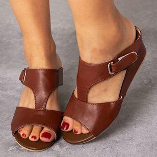 Women's Velcro Slingbacks Flat Heel Sandals_2