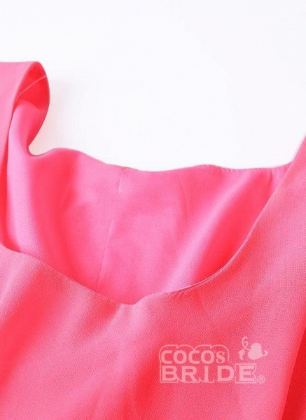 Purple Plus Size Tunic Solid Round Neckline Elegant Wrap Plus Dress_5