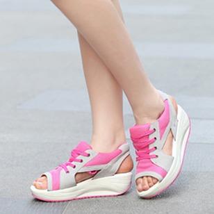 Women's Lace-up Wedge Heel Sandals_5