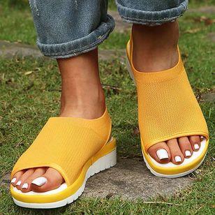 Women's Flats Cotton Flat Heel Sandals_1
