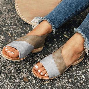 Women's Split Joint Flats Flat Heel Sandals_1