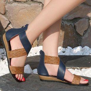 Women's Braided Strap Split Joint Heels Wedge Heel Sandals_6