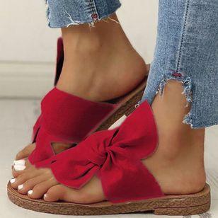 Women's Bowknot Flats Cloth Flat Heel Sandals_8