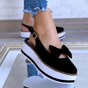 Women's Bowknot Buckle Slingbacks Wedge Heel Sandals_3