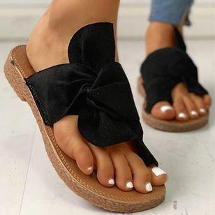 Women's Bowknot Flats Cloth Flat Heel Sandals_11