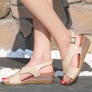 Women's Buckle Slingbacks Wedge Heel Sandals_5