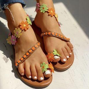 Women's Toe Ring Flat Heel Sandals_5