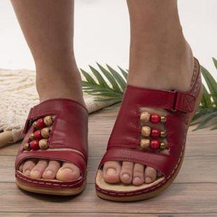 Women's Rhinestone Velcro Heels Wedge Heel Sandals_4