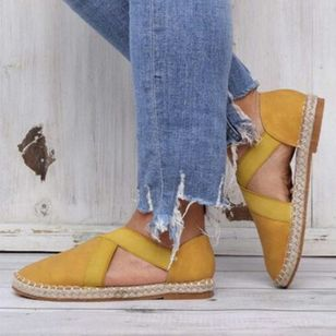Women's Closed Toe Nubuck Flat Heel Sandals_3