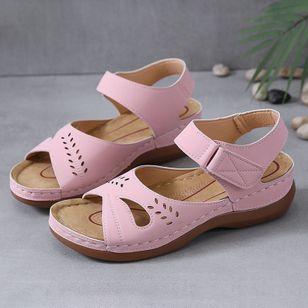 Women's Hollow-out Slingbacks Flat Heel Sandals_4
