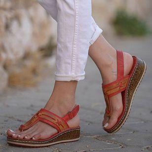Women's Slingbacks Toe Ring Wedge Heel Sandals_2