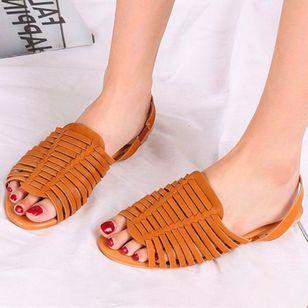 Women's Slingbacks Nubuck Flat Heel Sandals_1