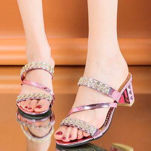 Women's Heels Chunky Heel Sandals Slippers_4
