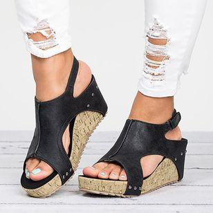 Women's Velcro Heels Wedge Heel Sandals_2